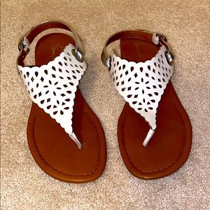 Sandals with Patterned Cutouts. Size 9M.